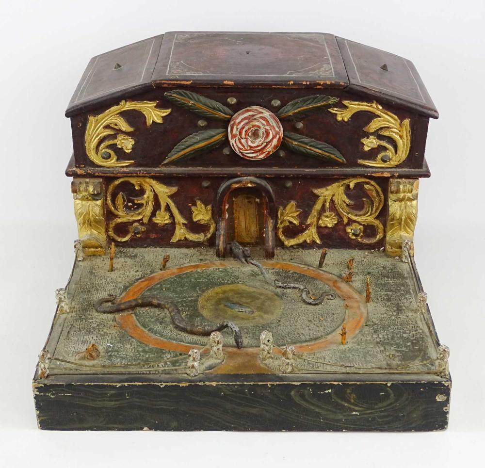 19th c. Folk Art Sewing Box