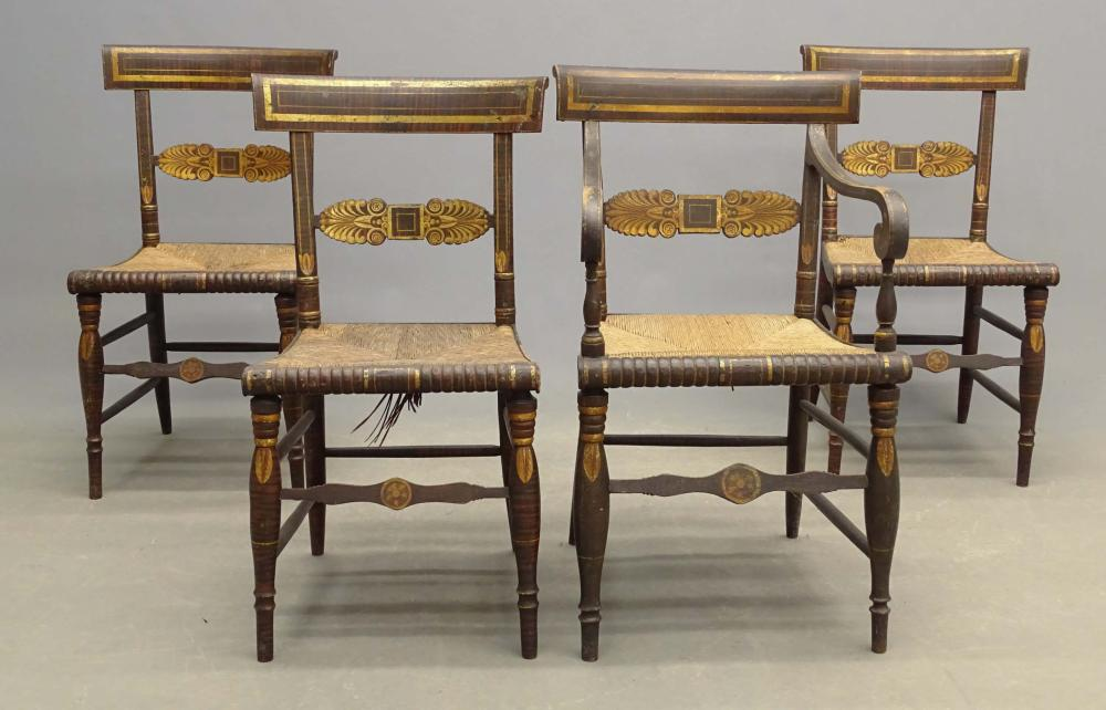 Set Of 19th c. Fancy Chairs