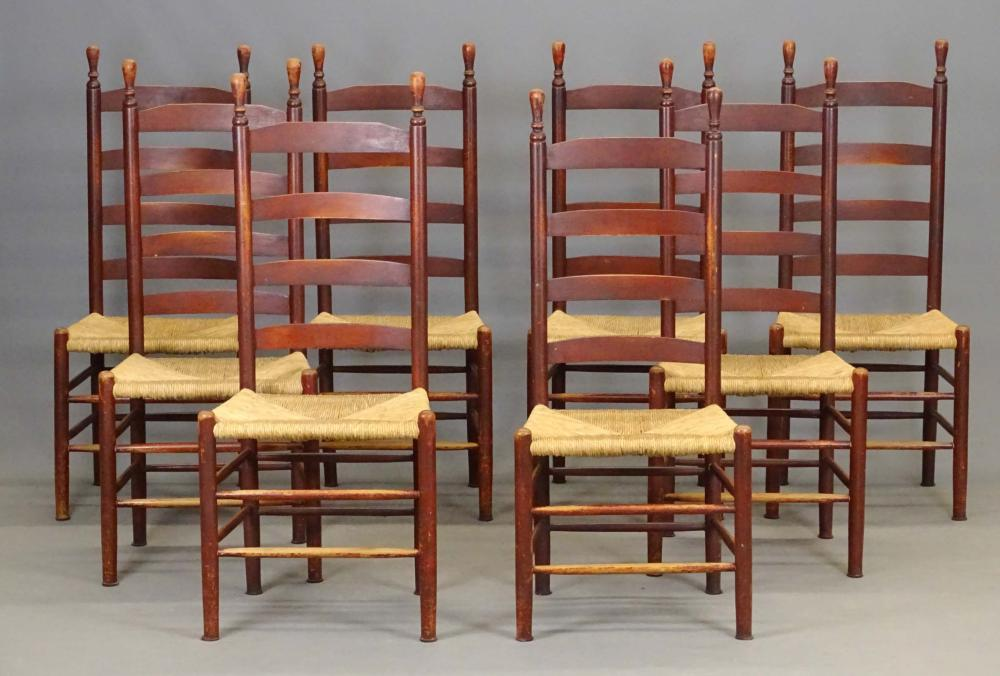 Set Of (8) Country Chairs