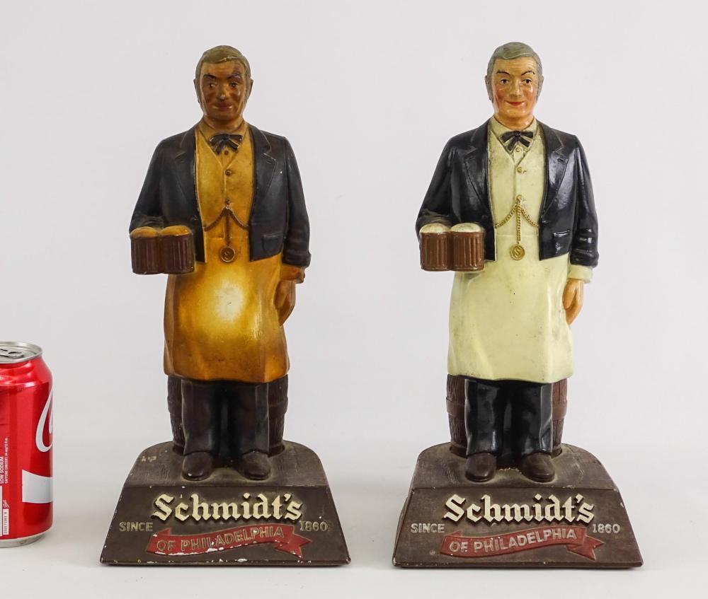 Pair Vintage Cast Beer Advertising Holders