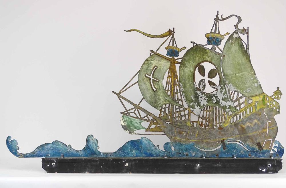 Sheet Metal Spanish Galleon Weathervane