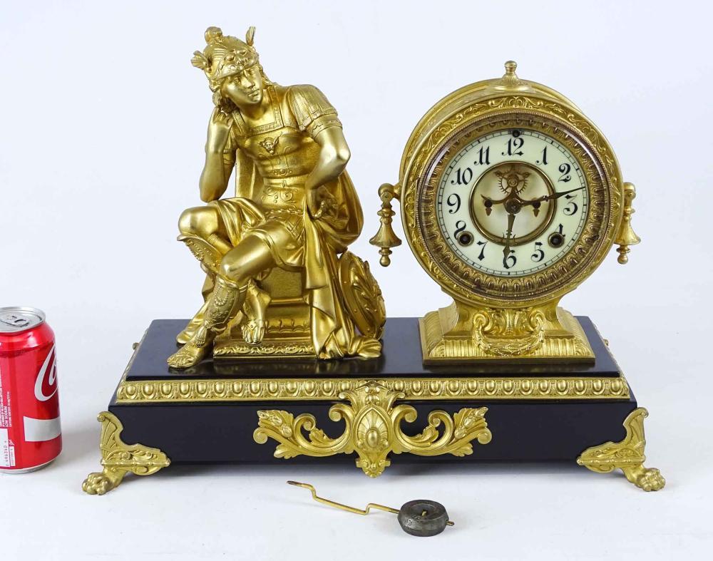 Ansonia Figural Mantle Clock