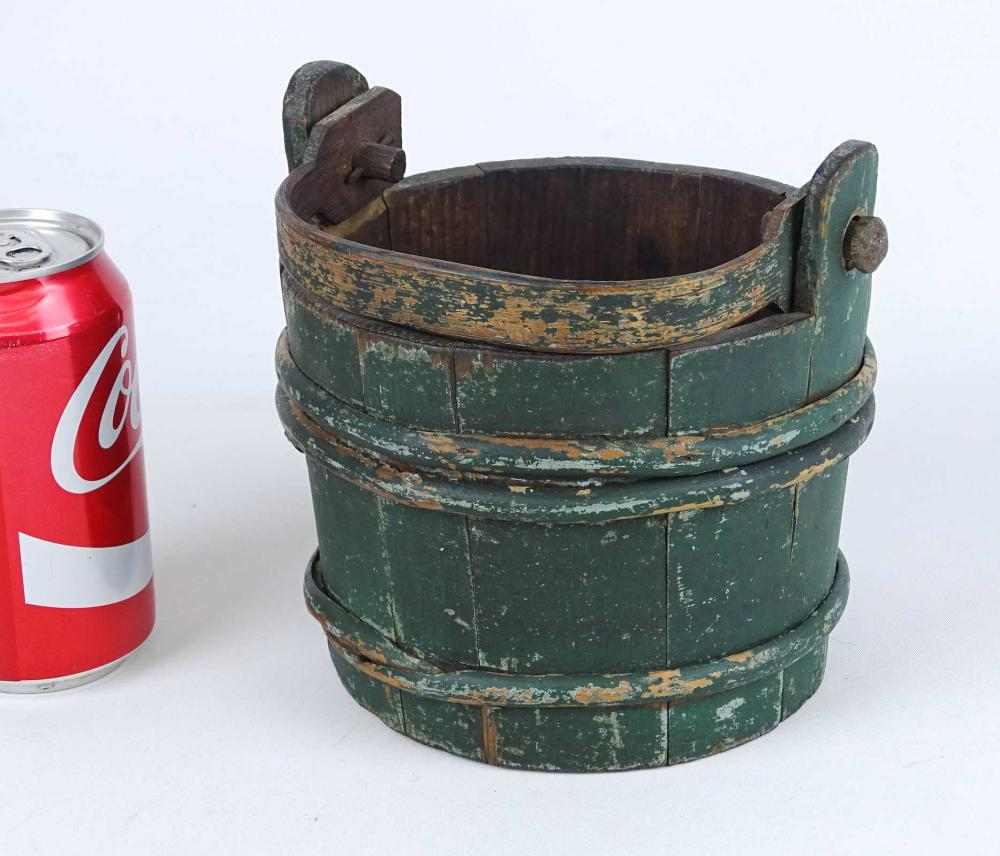 19th c. Wooden Miniature Bucket