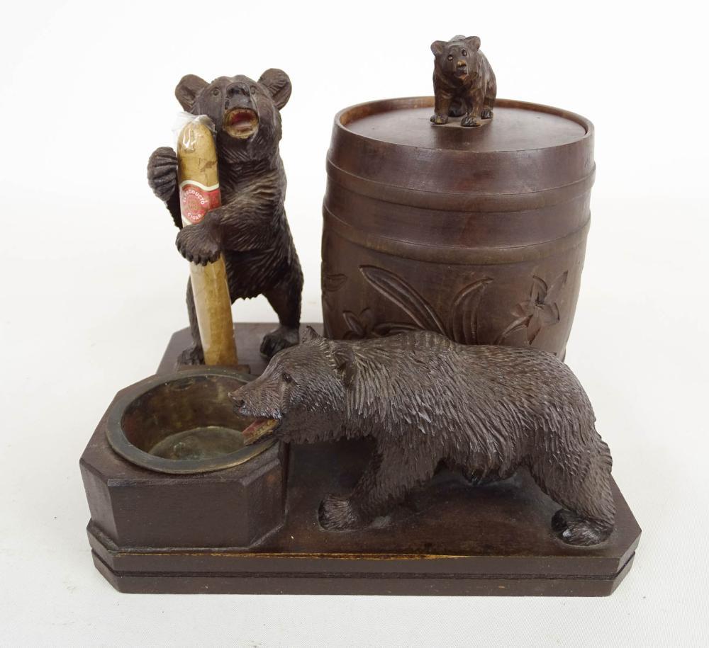 C. 1930 Black Forest Bears Humidor