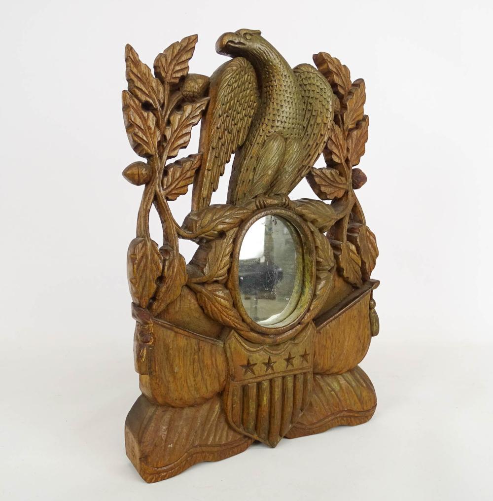 Folk Art Patriotic Carved Mirror