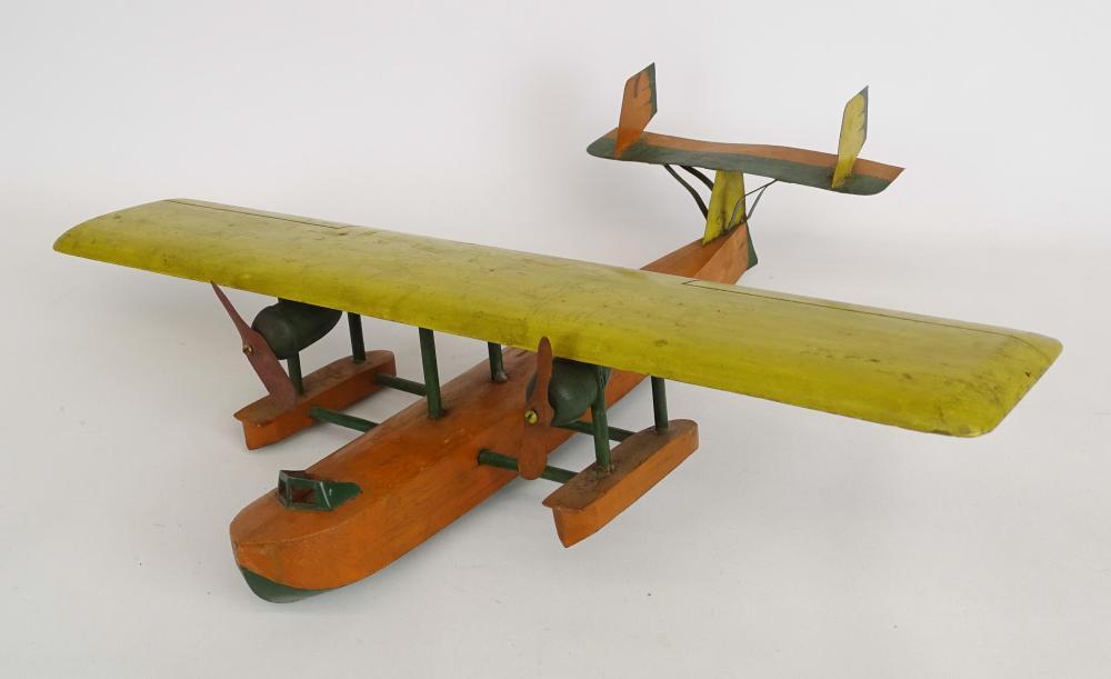 Folk Art Wooden Airplane