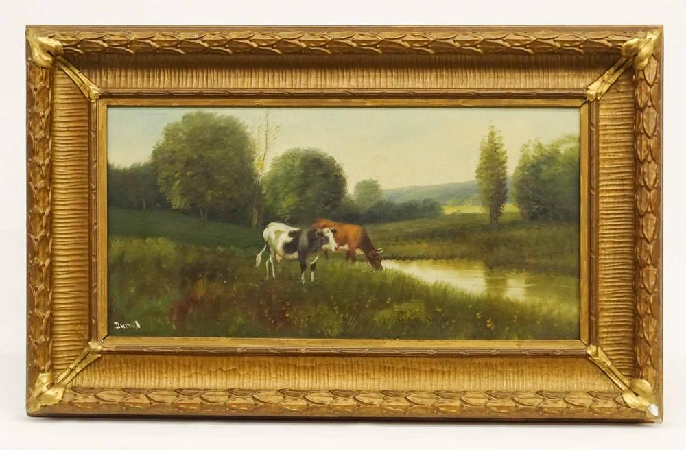 Durant, 19th c. Landscape With Cows