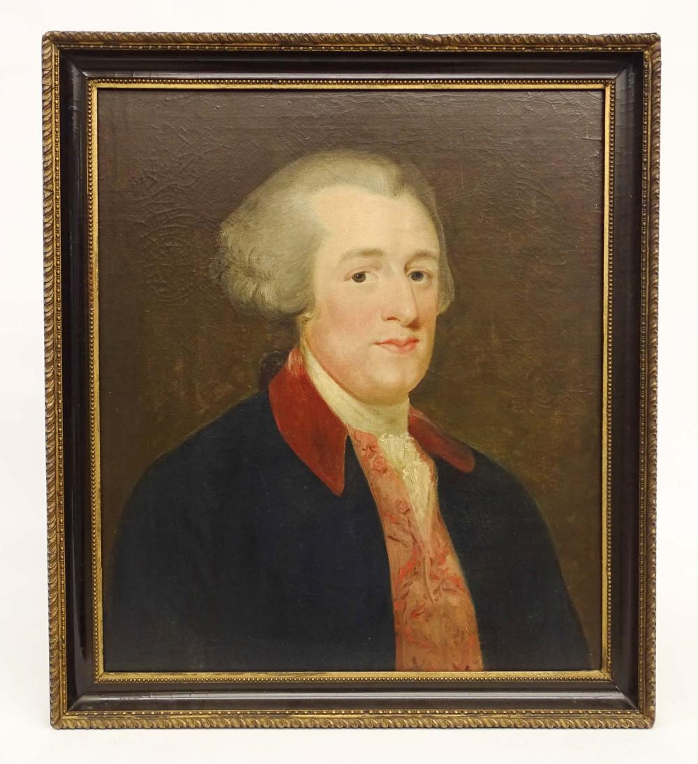 18th c. Portrait Of A Gentleman