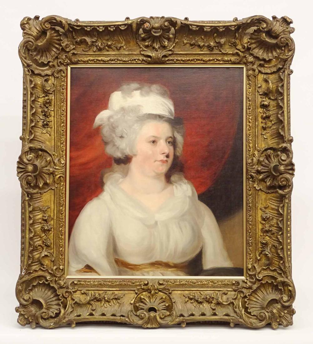 English School, Portrait Of Lady Campbell
