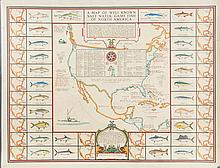 Map of Well Known Salt Water Game Fish
