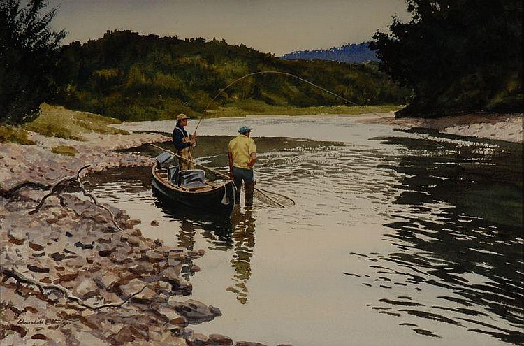 C. Ettinger Watercolor Painting