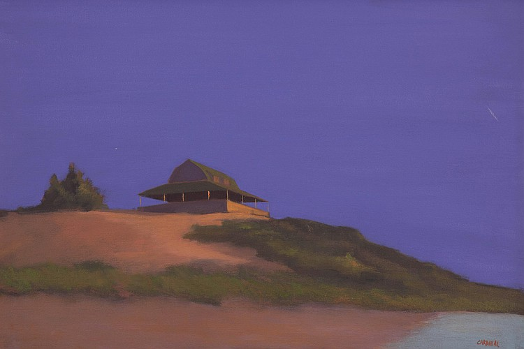 Robert Cardinal (b. 1936) House on a Bluff, Oil on canvas, 20 by 30 inches