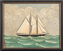 Carved Ship Painting