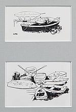Four Yachting Magazine Illustrations