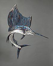 Metal Sailfish Sculpture