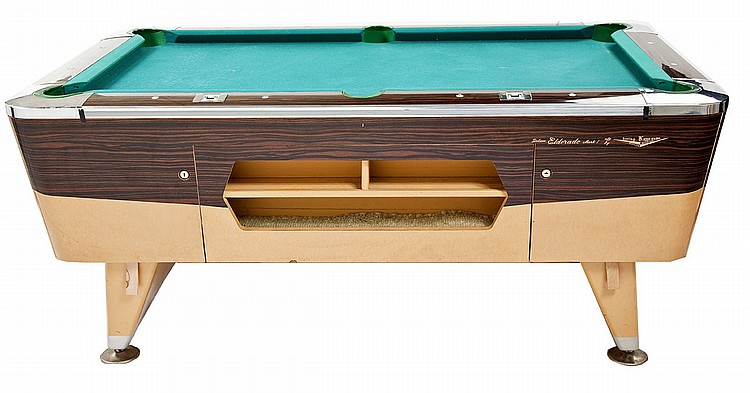 Sold Irving Kaye Eldorado Mark I Coin Op Pool Table Invalid Date Est - How To Mark Out A Pool Table