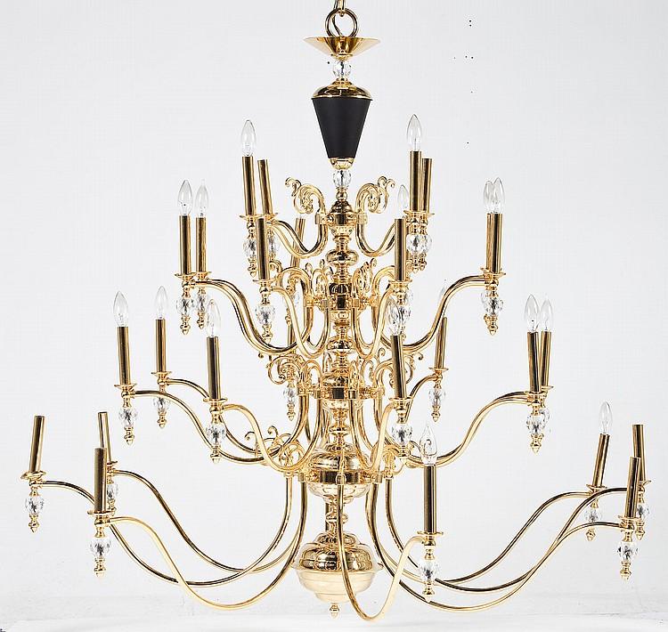 Very large modern 28 light brass chandelier for Very modern lighting