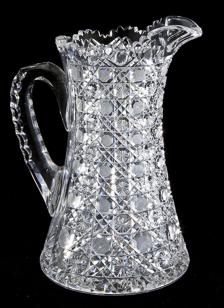 Harvard pattern brilliant cut glass pitcher How can i cut glass at home
