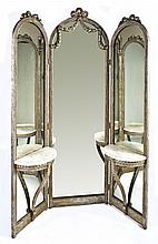 Hall Mirror with Demilune Shelves