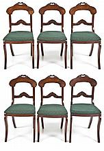 Set 6 Early Rococo Revival Victorian Chairs