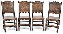 4 English Jacobean Revival Side Chairs
