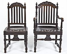 2 Jacobean Revival Carved Chairs