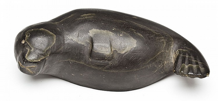 Kelly Pishuktee Inuit Sculpture of Seal