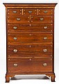 Pennsylvania Inlaid Tall Case of Drawers