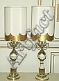 Pair Table Lamps w/ Custom Shades