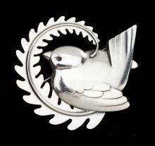 George Jensen Sterling Bird Pin