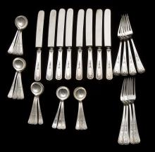 34 Pieces Whiting Sterling Oriana Flatware