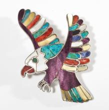 Native American Eagle Brooch/Pendant