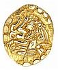 14K Gold Mayan Style Pendant/Pin