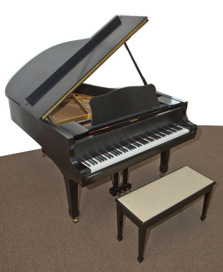 1972 yamaha c3 ebony case grand piano for Yamaha c3 piano