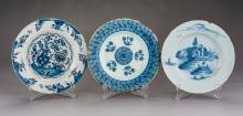 3 Delft Blue & White Pottery Plates