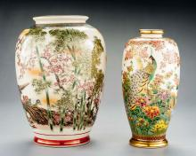 2 Satsuma Vases With Birds