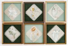 6 Flower Children Paintings on Silk