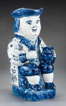 Large Delft Figural Jug Marked APK
