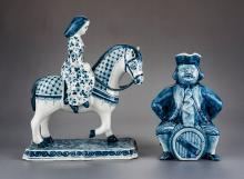 2 Pcs Royal Delft Incl Figure & Jug