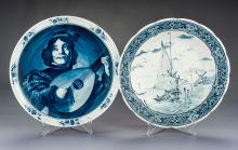Two Villeroy & Boch Delft Chargers