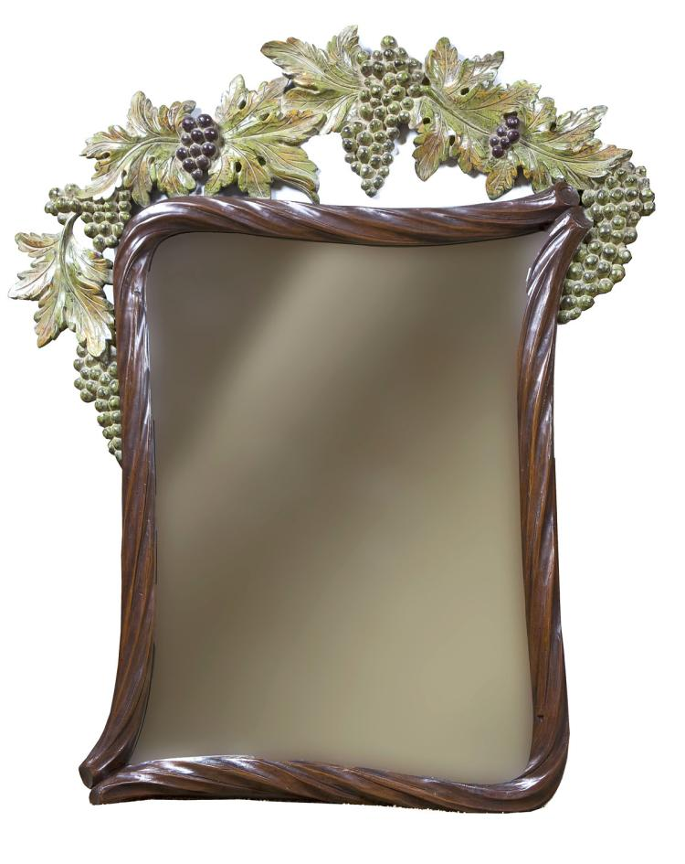 Bettis brooke grapevine carved wall mirror for Brooke mirror