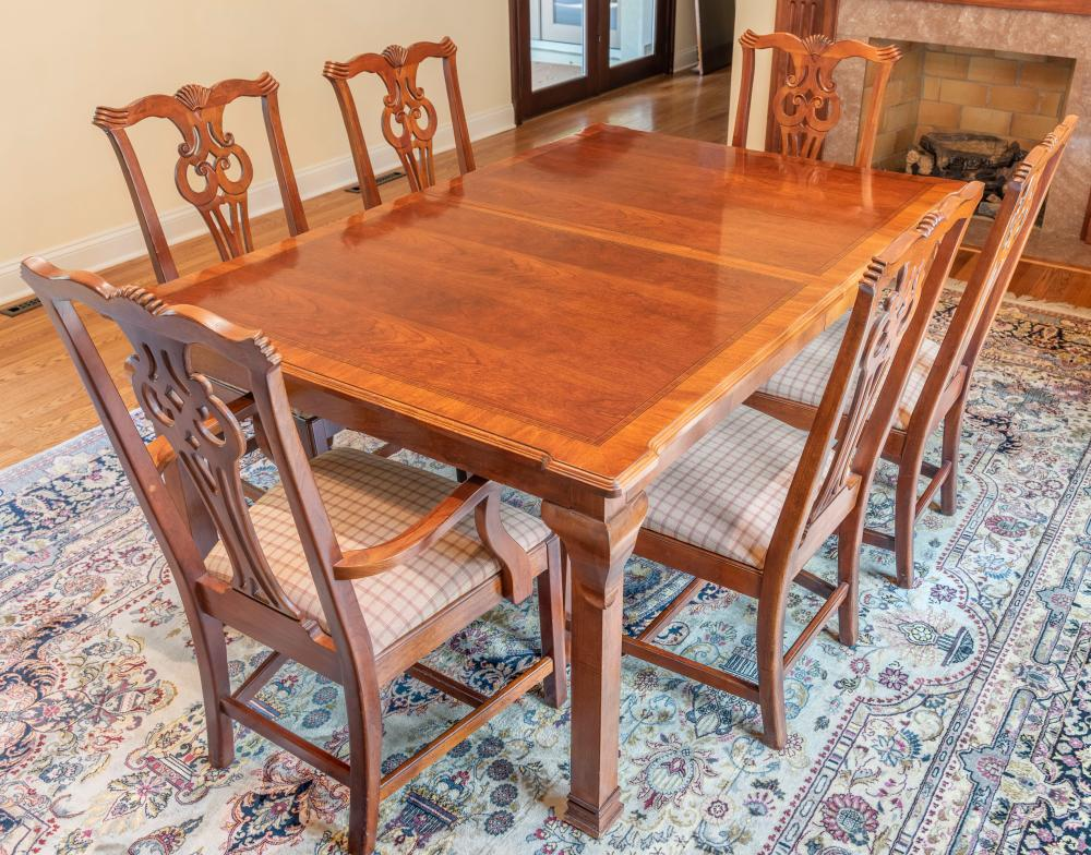 Sold Price Lexington Dining Room Table With 8 Chairs September 6 0120 10 00 Am Edt