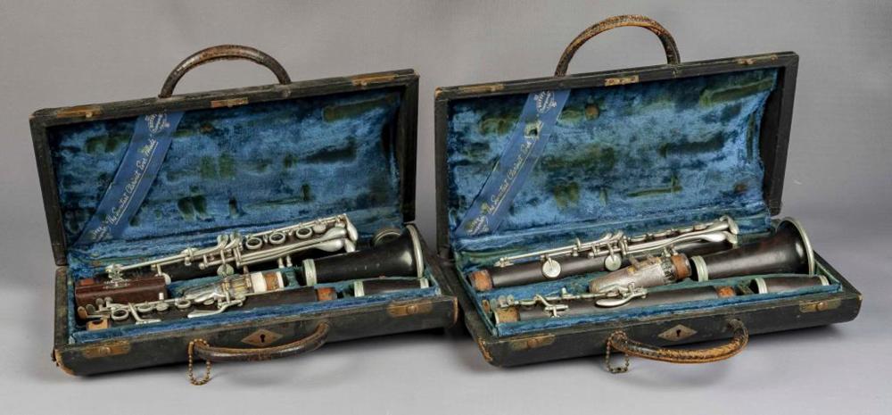 Outstanding 2 Buffet Crampon Clarinets Circa 1937 Interior Design Ideas Gresisoteloinfo