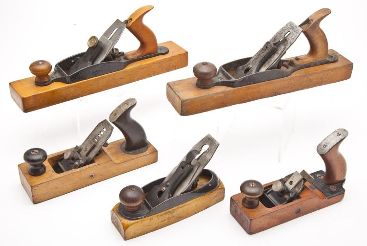 5 Woodworking Planes incl. Union & Gage