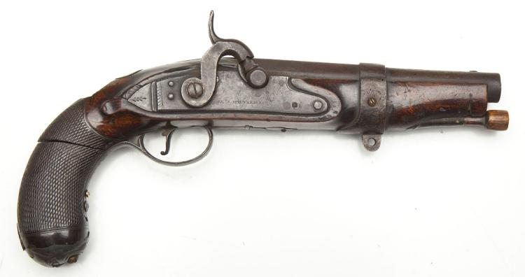 19th Century English Percussion Conversion Pistol