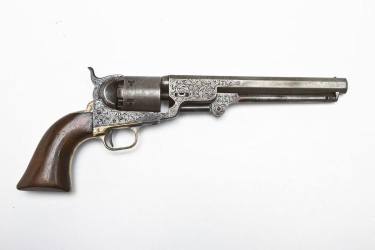 Engraved Colt 1851 Inscribed to Gov. C L Robinson