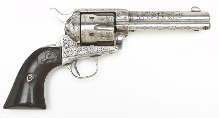 Engraved Colt 1st Gen. SA Revolver - .45 Long Colt