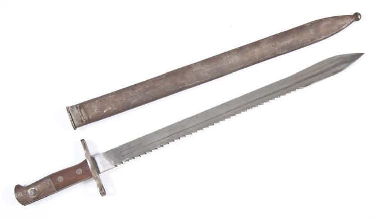 1887 Swiss Vetterli Pioneer Sawback Bayonet