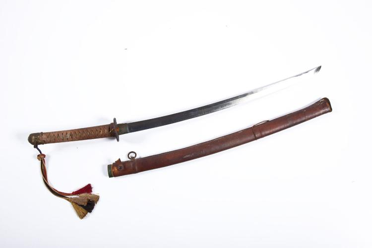 WWII Japanese Samurai Sword with Signed Tang