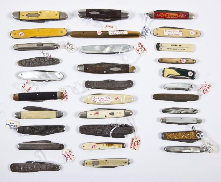 Group of 31 Vintage Pocket Knives